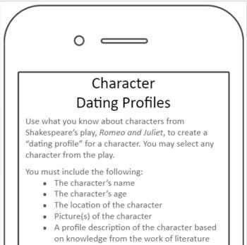 Romeo & Juliet: Character Dating Profiles