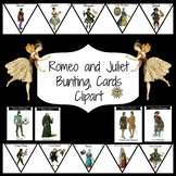 Romeo Juliet Clipart, Bunting and Cards