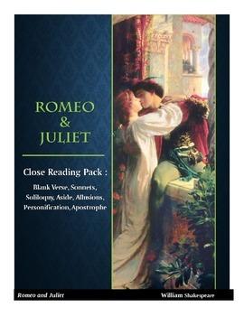 Romeo & Juliet Close Reading Activity Pack (6 Activities I