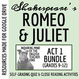 Romeo & Juliet Close Reading Bundle - Act 1 (Set of 6 Worksheets)