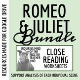 Romeo & Juliet Close Reading Bundle (Set of 22 Assessments)