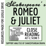 Romeo & Juliet Differentiated Close Reading Worksheet (Act 2, Scene 5)