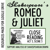 Romeo & Juliet Close Reading and Annotating Worksheet (Act 3, Scene 3)