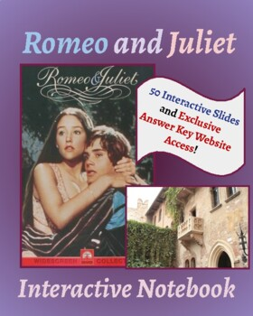 Romeo & Juliet Completely Interactive Notebook for Middle/High School