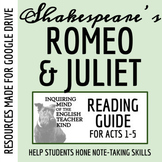 Romeo & Juliet Reading Guide Bundle - Acts 1-5