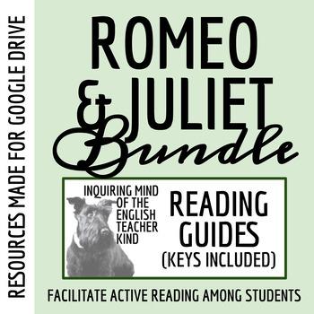 Romeo & Juliet Reading Guide Bundle - Acts 1-5 (Common Cor
