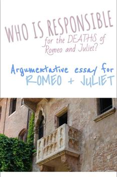 Romeo + Juliet- Essay brainstorming, thesis, and outline