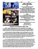 Romeo + Juliet Film (1996) Study Guide Movie Packet