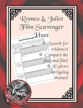 Romeo & Juliet Film Scavenger Hunt