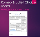 Romeo & Juliet Final Project Choice Board with Technology and no-tech options