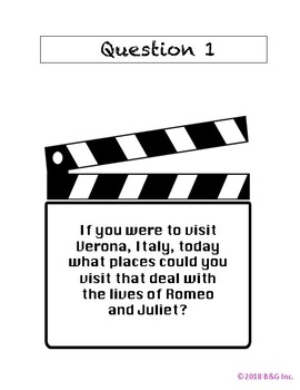 Romeo & Juliet Intro Scavenger Hunt