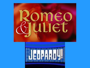 Romeo & Juliet Jeopardy Review Game