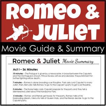 Romeo and Juliet Movie Summary and Teaching Tool  {Movie Guide}