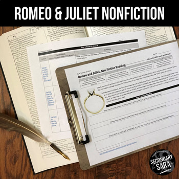 Romeo & Juliet: Non-Fiction Reading Activity