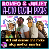 Printable Romeo and Juliet Masks Photo Booth Props
