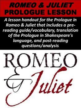 Romeo & Juliet Prologue Lesson