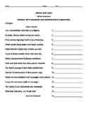 Romeo & Juliet Prologue Worksheet
