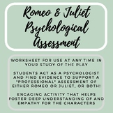 Romeo & Juliet Psychological Assessment