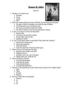 Romeo & Juliet Quiz 001