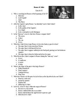 Romeo & Juliet Quiz 002