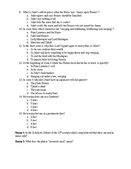 Romeo & Juliet Quiz 003