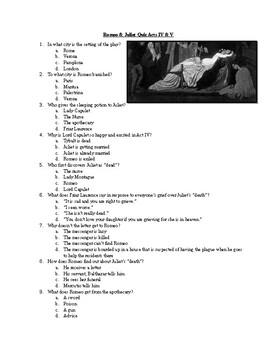Romeo & Juliet Quiz 004