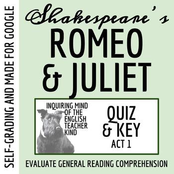 Romeo & Juliet Quiz - Act 1