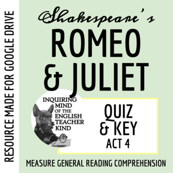 Romeo & Juliet Quiz - Act 4