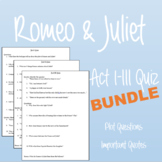 Romeo & Juliet Quiz Bundle: Acts I-III