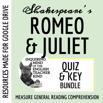Romeo & Juliet Quiz Bundle (Set of 5)