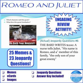 Romeo & Juliet Review: Memes, eCards, & (Actual) Jeopardy Questions