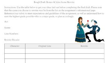 Romeo & Juliet: Scene Rewrite
