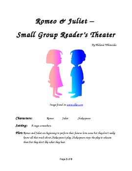 Romeo & Juliet Small Group Reader's Theater