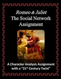Romeo and Juliet Social Network Character Analysis Assignment