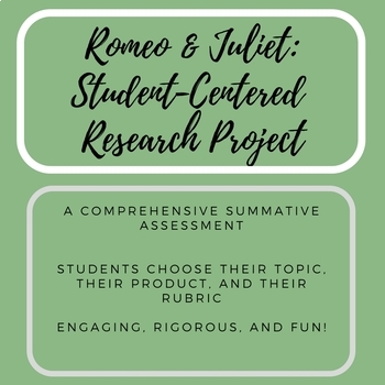 Romeo and Juliet: Student Centered Creative Research Project