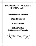 Romeo & Juliet Study Aids (Shakespeare) - Crossword, word