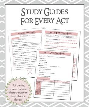 Romeo & Juliet Study Guides