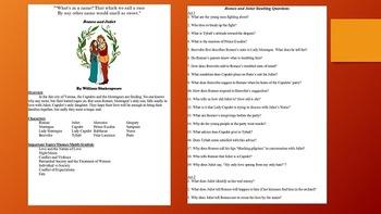 Romeo & Juliet Study Pack