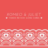 Romeo and Juliet Taboo Review Game