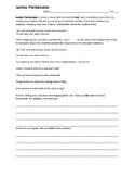 Romeo & Juliet Unit Iambic Pentameter Intro Worksheet