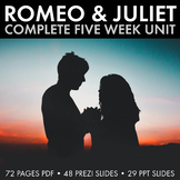 Romeo and Juliet, Complete R&J Unit Plan for Shakespeare's