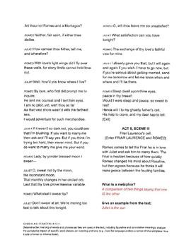 Romeo & Juliet Unit Reading #4