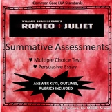 Romeo & Juliet: Unit Summative Assessments