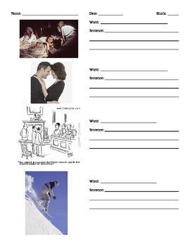 Romeo & Juliet Vocabulary Quizzes (visual)
