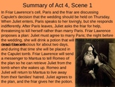 Romeo & Juliet: Act IV Vocabulary & Scene Summaries