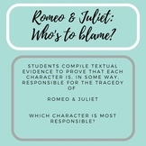 Romeo and Juliet - Who's to Blame?