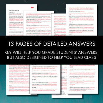 romeo juliet worksheets quizzes homework discussion for shakespeare s play. Black Bedroom Furniture Sets. Home Design Ideas