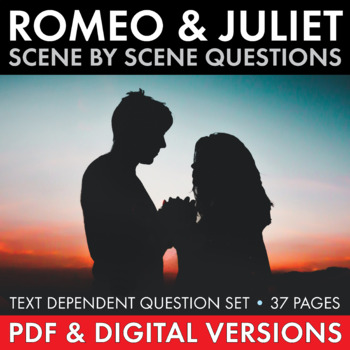 Romeo & Juliet Scene-by-Scene Question Set for Shakespeare's Play, R&J Study Set