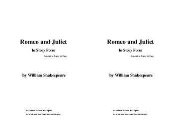 Romeo and Juliet (Entire School)