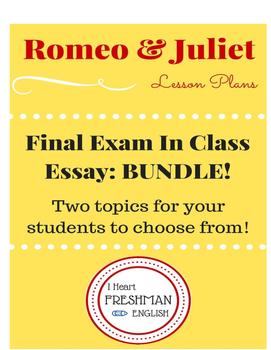 Romeo and Juilet In Class Essay BUNDLE!